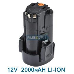 Batterie pour black et decker type LBXR12 -12V Li-Ion 2000mAH