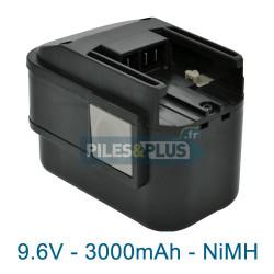 Batterie pour AEG MX9.6 - NiMH 9.6V 3000mAh