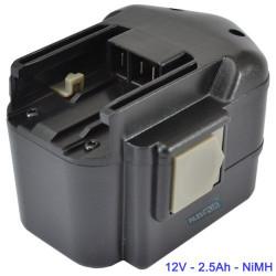 Batterie pour AEG/ATLAS COPCO/MILWAUKEE 12V NIMH 2.5Ah - BBS12
