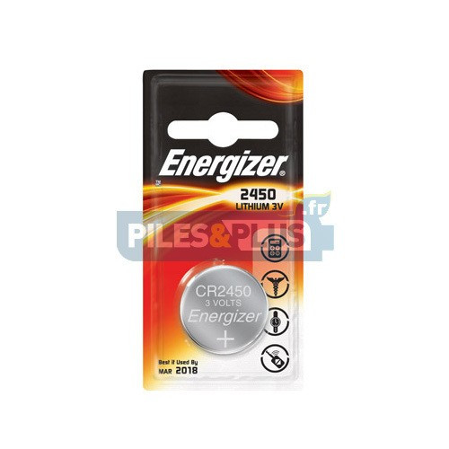 Pile bouton CR2450 - Lithium 3V Energizer