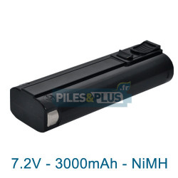 Batterie compatible Paslode IM65A - 7.2V 3000mAh NiMH