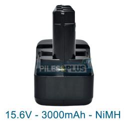 Batterie pour Metabo 6.31738 - 15.6V 3000mAh NiMH