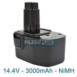 Batterie pour Black et Decker type CD14CA - 14.4V NiMH 3000mAh