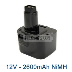 Batterie DE9501 Dewalt 12v 2500mAh NiMH