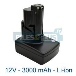 Batterie Milwaukee outillage C12B 12V Li-ion 3000mAh