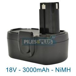 Batterie compatible Skil 2610388965 - 18V 3000mAh NiMH