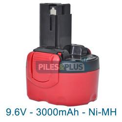 Batterie pour Bosch type 2607335682 - 9.6V NiMH 3000mAh