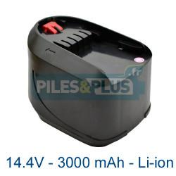 Batterie pour Bosch type 2607336206 - 14.4V Li-Ion 3000mAh