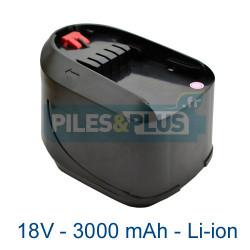 Batterie pour Bosch type 2607336208 - 18V Li-ion 3000mAh