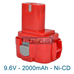 Batterie type Makita 9120 - 9.6V 2000mAh NiCD