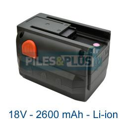 Batterie Gardena CST 2018 18V 2.6mAh lithium-ion