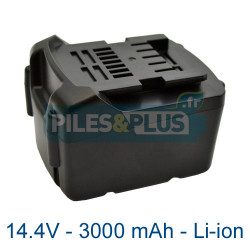 Batterie li-ion Metabo 14.4V - 3000mAh