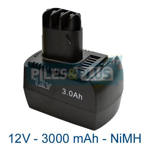 Batterie type Metabo - 12V 3000mAh NiMH