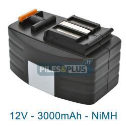 Batterie compatible Festool pour série TDD - 12V 3000mAh NiMH