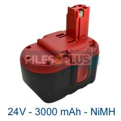 Batterie pour Bosch type 2607335510 - 24V NiMH 3000mAh