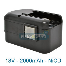 Batterie pour AEG B18 - 18V NiCD 2000mAh