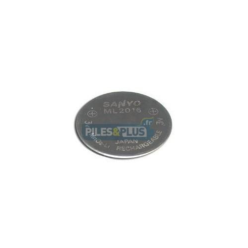 Pile bouton rechargeable ML2016 - Lithium 3V - Par 1