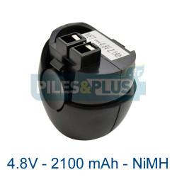 Batterie pour Metabo Powergrip 2 - 4.8V 2100mAh NiMH