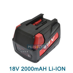 BATTERIE A.Q.PRO  MILWAUKEE 18V 2.0AH LIION 48-11-1830