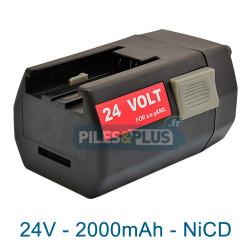 Batterie pour AEG BXL24 - 24V Ni-MH 2000mAh