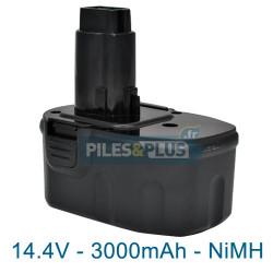 Batterie compatible Dewalt DE9038 14.4V 3000mAh NiMH