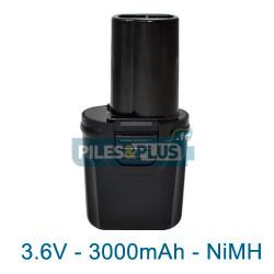 Batterie Dewalt DE9054 - 3.6V NiMH 3000mAh