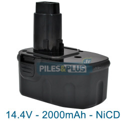 Batterie Dewalt DE9091 compatible - 14.4V 2000mAh NiCD