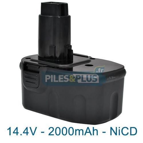 batterie dewalt de9091 compatible 14 4v 2000mah nicd. Black Bedroom Furniture Sets. Home Design Ideas