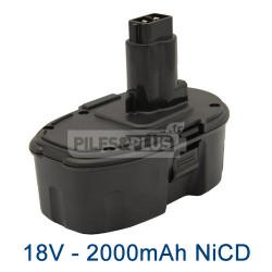 Batterie Dewalt DE9095 18V - 2000mAh NiCD