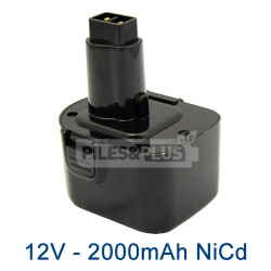 Batterie DE9071 Dewalt 12V 2000mAh NiCD