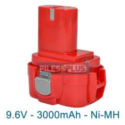 Batterie pour Makita 9135 - 9.6V NiMH 3000mAh