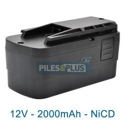 Batterie Festool BPS 12C pour série TDK - NiCD 12V 2000mAh