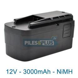 Batterie type Festool BPS 12S pour série TDK - NiMH 12V 3000mAh