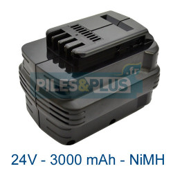 Batterie type Dewalt DE0241 - 24V 3000mAh NiMH