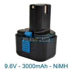 Batterie type Hitachi EB9B - 9.6V 3000mAh NiMH