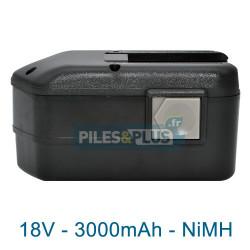 Batterie pour AEG BXL18 - 18V NiMH 3000mAh