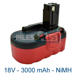 Batterie pour Bosch type 2607335680 - 18V NiMH 3000mAh