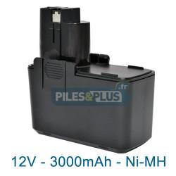 Batterie pour Bosch type 2607335250 - 12V NiMH 3000mAh