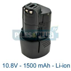 Batterie pour Bosch type 2607336014 - 10.8V Li-ion 1500mAh