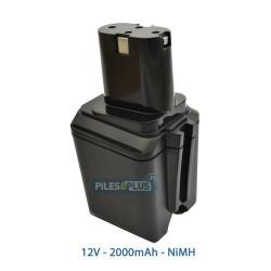 Batterie pour Bosch type 2607335021 - 12V NiMH 2000mAh