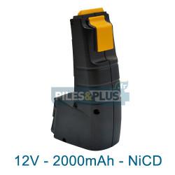 Batterie compatible Festool BPH 12C pour série CDD - 12V 2000mAh NiCD