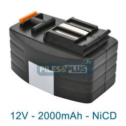 Batterie type Festool BPH 12T pour série TDD - 12V 2000mAh NiCD
