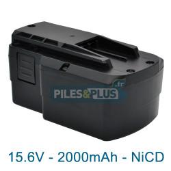 Batterie compatible Festool BPS 15.6S pour TDK - 15.6V 2000mAh NiCD