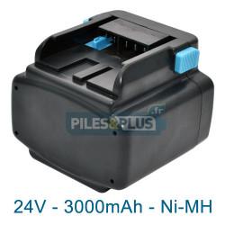 Batterie pour Hitachi EB2430HA - 24V 3000mAh NiMH