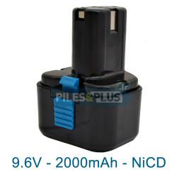 Batterie compatible Hitachi EB9B - NiCD 9.6V 2000mAh