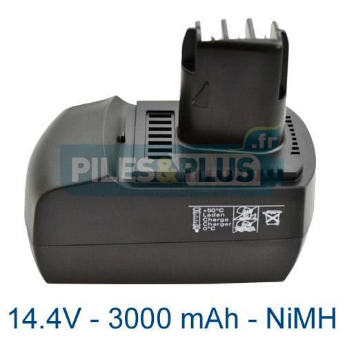 Batterie pour outillage Metabo BSZ 14.4V 3000mAh NiMH