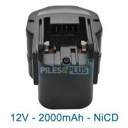 Batterie pour AEG- ATLAS COPCO B12 - 12V NiCD 2000mAh
