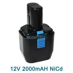 Batterie Hitachi 12V EB12B - 2000mAh NiCD