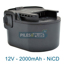 Batterie pour AEG B1215 - 12V NiCD 2000mAh