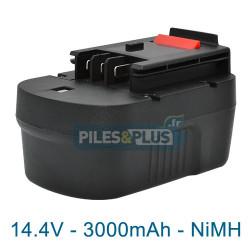 Batterie pour Black et Decker type A14 - 14.4V NiMH 3000mAh
